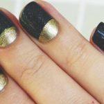 Черный маникюр на коротких ногтях: лучшие фото 39-8-150x150