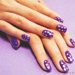 Фиолетовый маникюр на короткие ногти 45-1-150x150