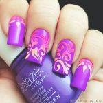 Фиолетовый маникюр на короткие ногти 45-10-150x150