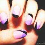 Фиолетовый маникюр на короткие ногти 45-12-150x150