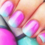 Фиолетовый маникюр на короткие ногти 45-13-150x150