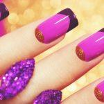 Фиолетовый маникюр на короткие ногти 45-14-150x150