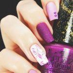 Фиолетовый маникюр на короткие ногти 45-15-150x150