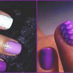 Фиолетовый маникюр на короткие ногти 45-16-150x150