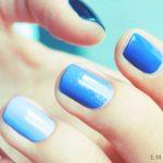 Фиолетовый маникюр на короткие ногти 45-17-150x150