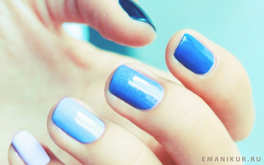 Если цвет маникюра голубой какой сделать цвет педикюра