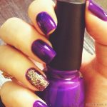 Фиолетовый маникюр на короткие ногти 45-3-150x150