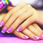 Фиолетовый маникюр на короткие ногти 45-4-150x150