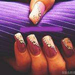 Фиолетовый маникюр на короткие ногти 45-7-150x150