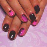 Фиолетовый маникюр на короткие ногти 45-9-150x150