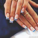 Французский маникюр на нарощенные ногти: обворожительные фото 83-11-150x150