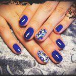 Синий маникюр шеллаком: роскошные фото 116-11-150x150