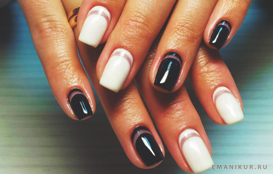 Гель-лак фото дизайн на коротких ногтях мастер класс