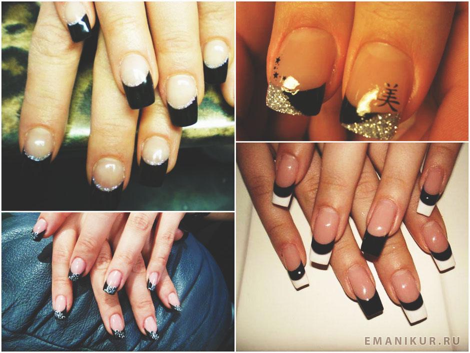 Френч ногтей разных цветов 126