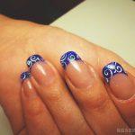 Маникюр синий френч: обворожительные фото 92-11-150x150