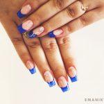 Маникюр синий френч: обворожительные фото 92-5-150x150