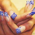 Маникюр синий френч: обворожительные фото 92-9-150x150